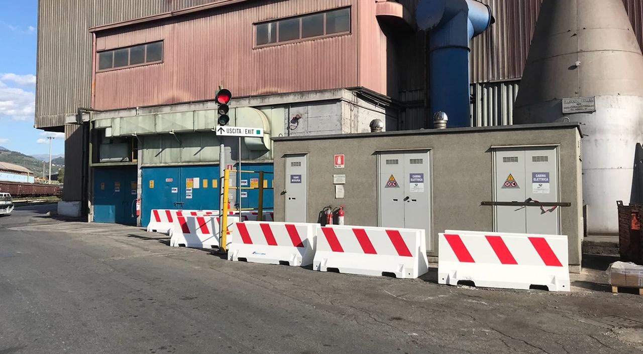 fornitura barriere presso AST Terni